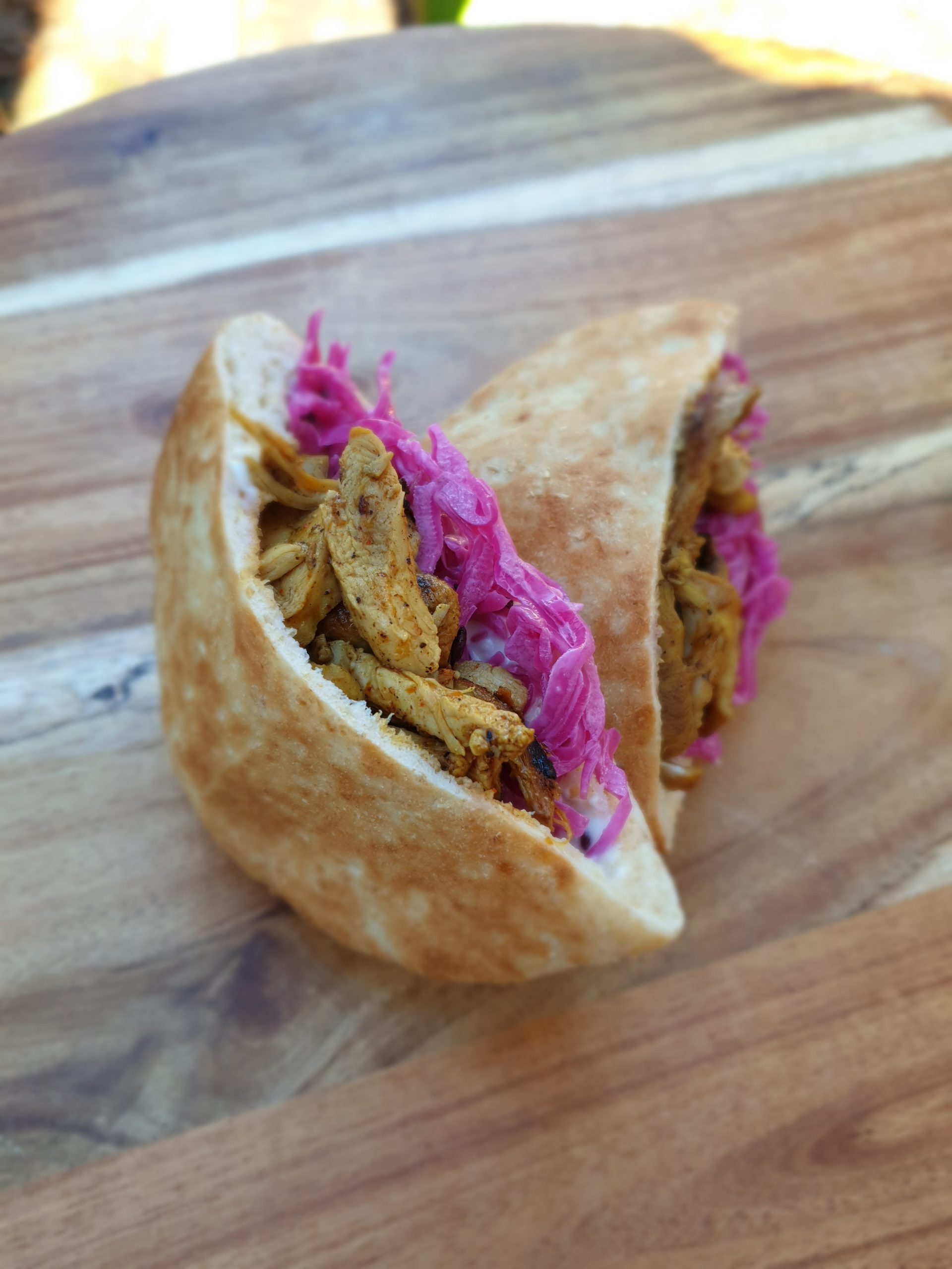 Chicken Sawarma pita pocket